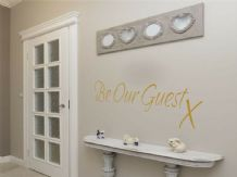 Welcoming 'Be Our Guest' Homely Wall Art Sticker, Modern Transfer, PVC